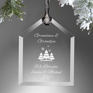 Personalized Glass House Christmas Ornament Create Your