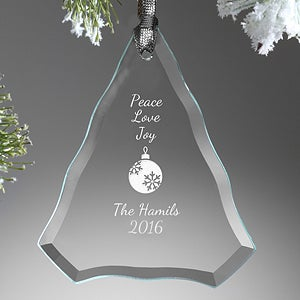 Personalized Glass Tree Christmas Ornament - Create Your Own - 15155