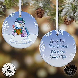 Personalized Precious Moments Snowman Christmas Ornament - 15156