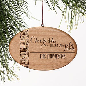 Personalized Family Christmas Ornament - Cherish The Simple Things - 15160