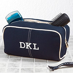 Personalized Men's Travel Toiletry Bag - Classic Canvas - 15172