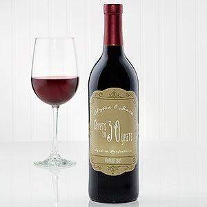 Personalized Scroll Of Love Wine Bottle Labels - 15179
