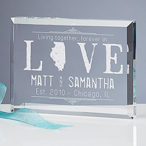 Personalized Romantic Keepsake - State of Love - 15192
