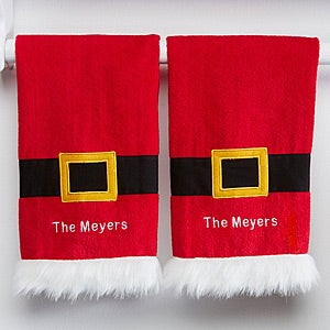 Personalized Christmas Kitchen Towel Set