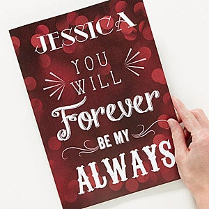 Personalized Oversized Romantic Greeting Card - Love Quotes - 15222