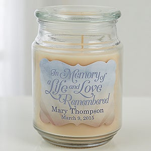 Personalized Scented Candle Jar - In Memory - 15228