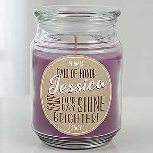 Personalized Scented Candle Jar - My Bridesmaid - 15230