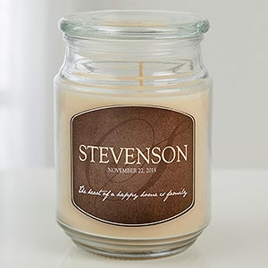 Personalized Scented Glass Candle Jar - Heart Of Our Home - 15231