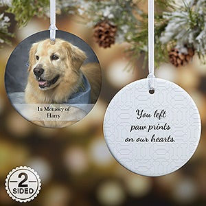 personalized pet christmas ornament 2 sided pet photo memories christmas