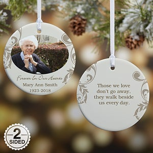 personalized photo memorial christmas ornament in loving memory 15250