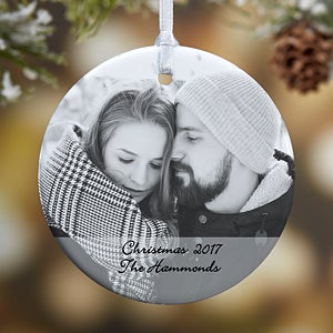Personalized 2-Sided Photo Ornament - 15254