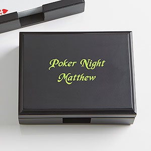 Personalized Wood Playing Card Box - You Name It! - 15259