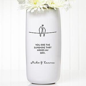 Personalized Romantic Vase - Lovebirds - 15261