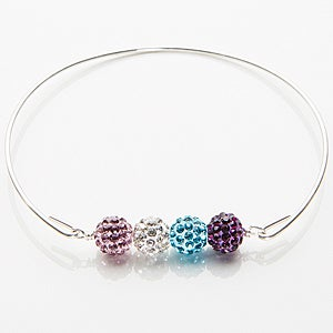 Personalized Crystal Birthstone Bracelet - 15275D