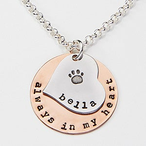 Personalized pet memorial necklace always in my heart personalized pet memorial necklace always in my heart 15282d aloadofball Images