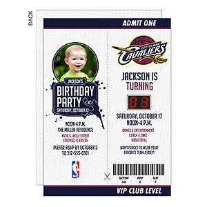 Personalized NBA Game Day Invitations - 15291