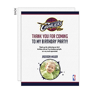Personalized NBA Game Day Ticket Thank You Cards - 15292