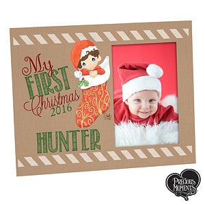 Personalized Precious Moments Christmas Photo Frame - 15306