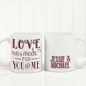 Personalized Romantic Coffee Mug - Love Quotes - 15316