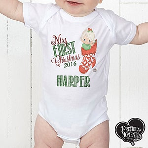Personalized Precious Moments Christmas Baby Apparel - 15318
