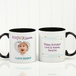 Personalized Photo Coffee Mug - Hugs & Kisses For Mom - 15320