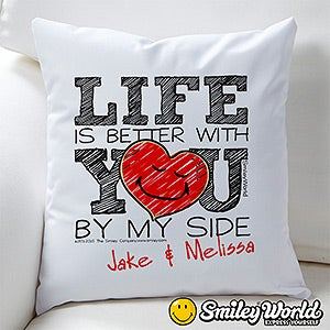Personalized Love Throw Pillow - SmileyWorld - 15329