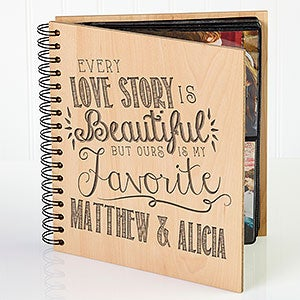 Personalized Romantic Wedding Photo Album - Love Quotes - 15335