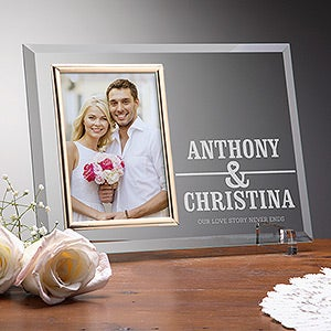 Personalized Romantic Glass Photo Frame - Our Love Story - 15336