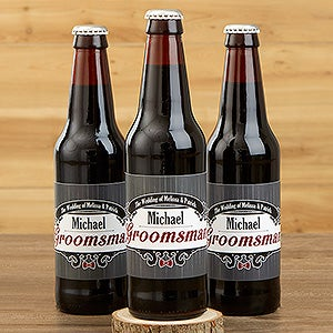 Personalized Wedding Beer Bottle Labels Groomsman 15338