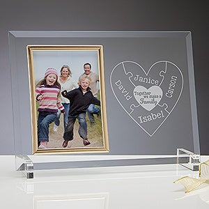 Personalized Glass Picture Frame - Together We Make A Family - 15369