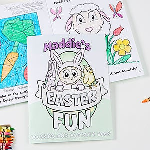 Personalized Coloring Activity Book & Crayon Set - Easter Fun! - 15388