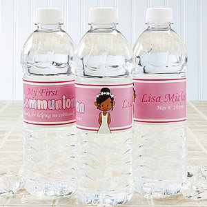 Personalized Water Bottle Label - I'm The Communion Girl - 15402