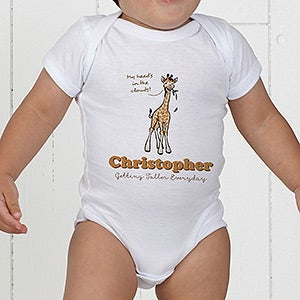 Personalized lovable giraffe baby bodysuit baby gifts lovable giraffe personalized baby bodysuit on sale today negle Choice Image