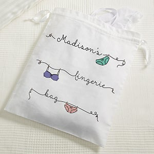 Personalized Lingerie Bag - For Your Eyes Only - 15448