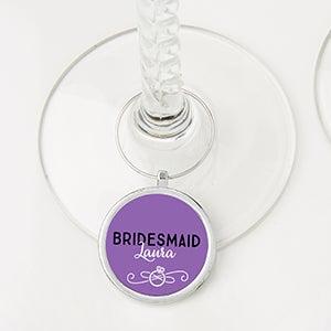 Personalized Wine Charm - Bachelorette - 15456