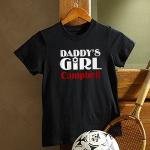 Personalization Mall Personalized Black Relaxed Fit T Shirt In Daddy's Girl Design at Sears.com