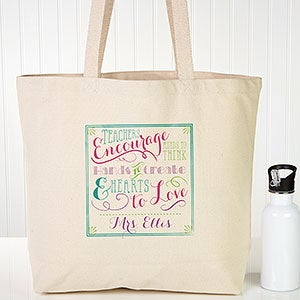 Personalized Teacher Tote Bag Teacher Quotes