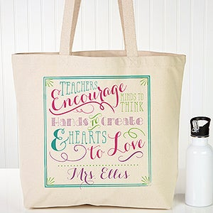 Personalized Teacher Tote Bag Teacher Quotes Teacher Gifts