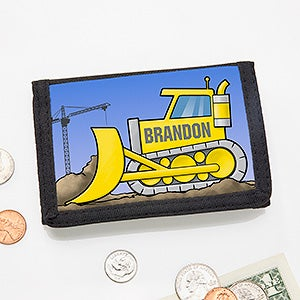 Personalized Wallet - Construction Trucks - 15487