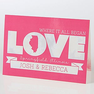 Personalized Romantic Greeting Card - State Of Love - 15519