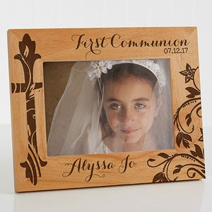 Personalized Religious Wood Picture Frame - First Communion - 15547
