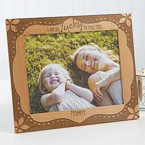Personalized Wood Frame - Lucky To Call You - 15560