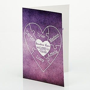Personalized Greeting Card - We Love You To Pieces - 15582
