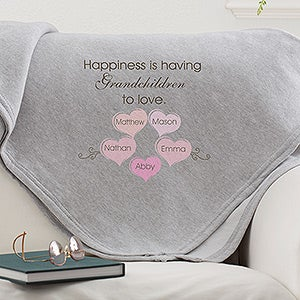 What Is Happiness? Personalized Sweatshirt Blanket