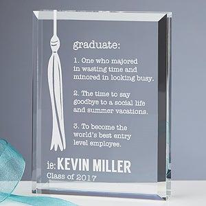 Personalized Graduation Keepsake - Definition of a Graduate - 15589