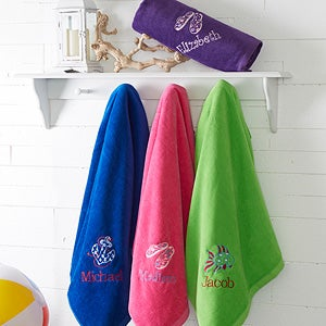 Embroidered Beach Towels - Beach Fun! - 15603