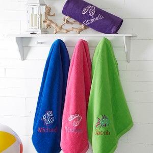 Embroidered Beach Towels - Beach Fun! - 15603
