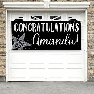 Personalized Graduation Party Banner Shining Star
