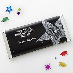 Personalized Graduation Candy Bar Wrappers - Shining Star