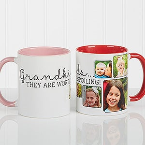 Personalized Photo Coffee Mug For Her - They're Worth Spoiling - 15625